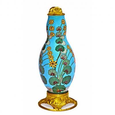 Vase Cloisonné Art Nouveau signé Louchet à Paris