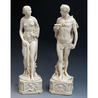 Joe Descomps Paire de Statues Art Déco