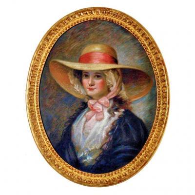 Arsène Le Feuvre (1863-1936) Portrait Au Pastel