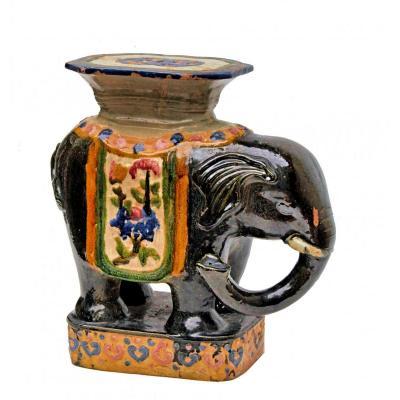 Éléphant Tabouret De Jardin Céramique De Chine