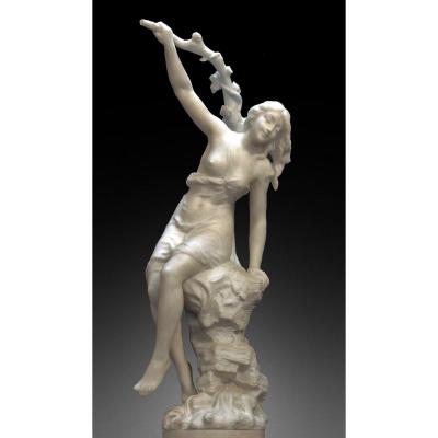 S. Kinsburger (1855-1935) Large Marble Sculpture