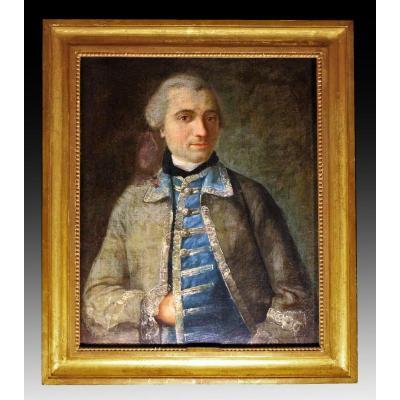Joseph Siffred Duplessis (1725-1802) Portrait d'Officier XVIIIe