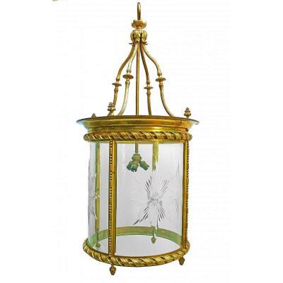 Very Large Lantern Napoleon III Gilt Bronze