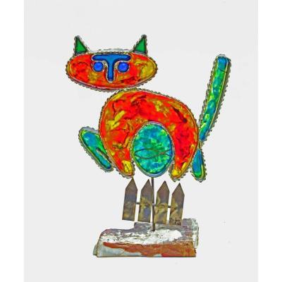 "Curtis Jere (usa) Sculpture ""the Cat"" 1967"