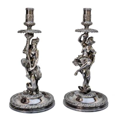 Corneille Van Cleve (1646-1732) Pair Of Great Torches