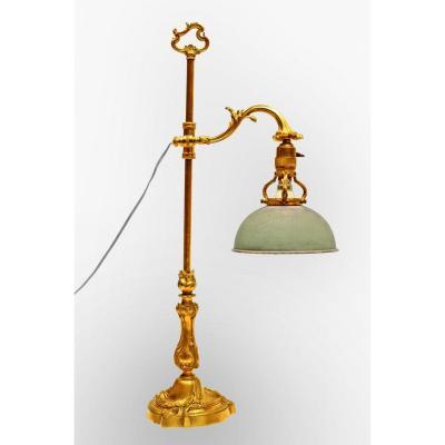 Grande Lampe Napoléon III en Bronze Doré (H: 70cm)