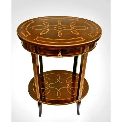 Napoleon III Table Marquetry Boulle