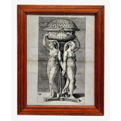 Gravure XIXe d'Après Marcantonio Raimondi
