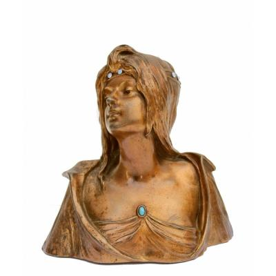 Georges Flamand (1895-1925) Buste Art Nouveau