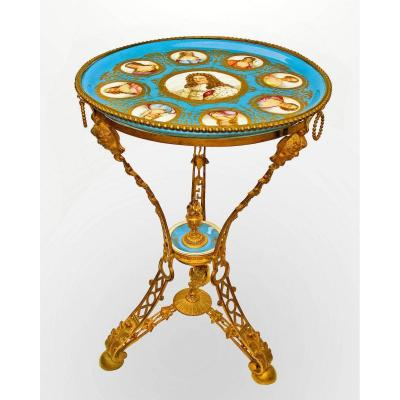 Sèvres Napoleon III Ceremonial Pedestal Table