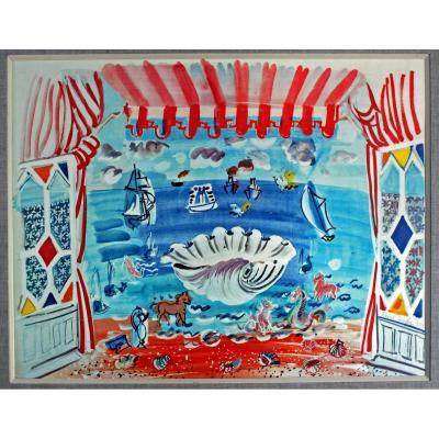 Raoul Dufy (1877-1953) Rideau De TheÂtre Pour Le Ballet Palm Beach 1933