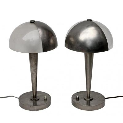 Jean Perzel (1892-1986) Paire de Lampes Art Déco 1930