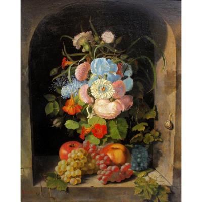 Marie Favre-Guillarmod (1824-1872) Composition dlg école Hollandaise XVIIe