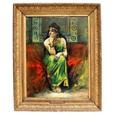 Grand Tableau Orientaliste Hérodiade XIXe