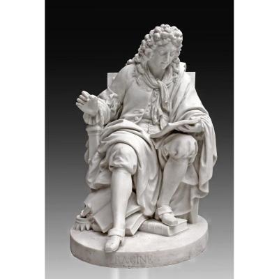 Sèvres XVIIIe Rare Statue -Série des Grands Hommes-