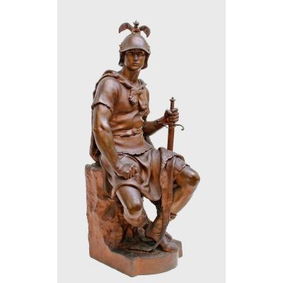 Paul Dubois (1829 - 1905) Monumental Bronze XIXe Barbedienne Fondeur