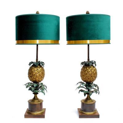 "Maison Charles Paire de Lampes ""Ananas"""