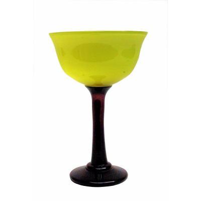 Daum - Nancy Grand Vase Calice Art Déco 1920-30