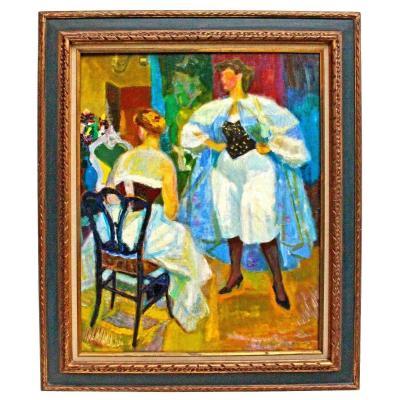 Louis BerthommÉ-saint-andrÉ (1905-1977) Women In Corselet