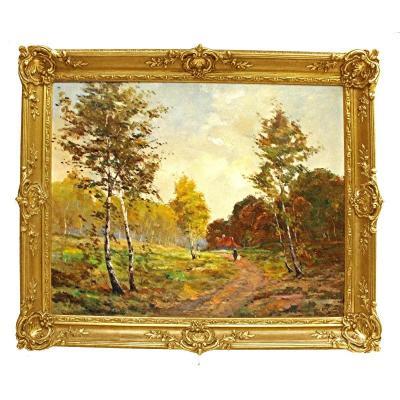 Henry Martin (1837 - 1902) Grand Tableau Paysage Impressionniste