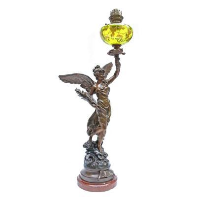E.Bruchon Lampe Torchère XIXe ( H: 1 M 13 )