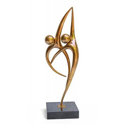 A.cantarel (xxe) Sculpture Bronze Doré N°3/8