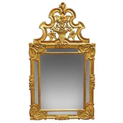 Miroir Provençal En Bois Doré Fin XVIIIe