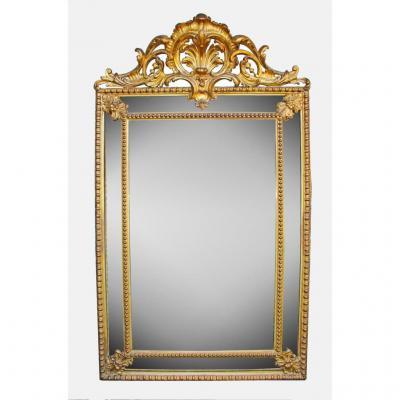 miroir sculpt et d coup en bois dor xixe si cle. Black Bedroom Furniture Sets. Home Design Ideas