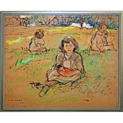 Jules ADLER (1865-1952) Dessin Impressionniste
