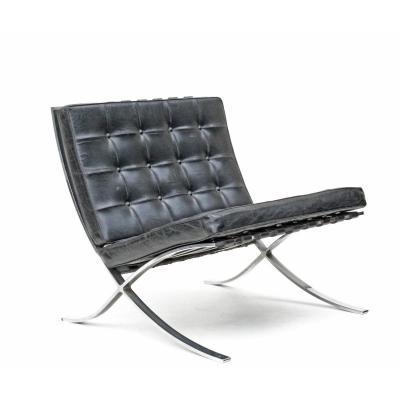 """Armchair """"barcelona"""" By Ludwig Mies Van Der Rohe For Knoll"""