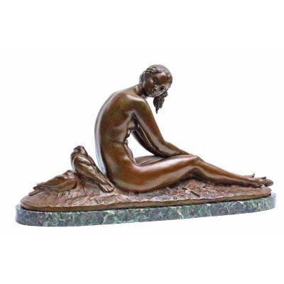 Joseph Cormier (1869-1950) Large Bronze Art Deco