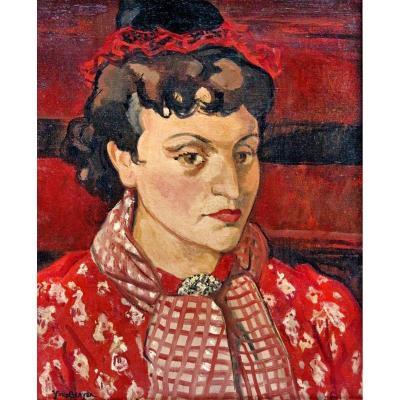 Yves Brayer (1907-1990) Portrait d'Éliane Petit De La Villéon
