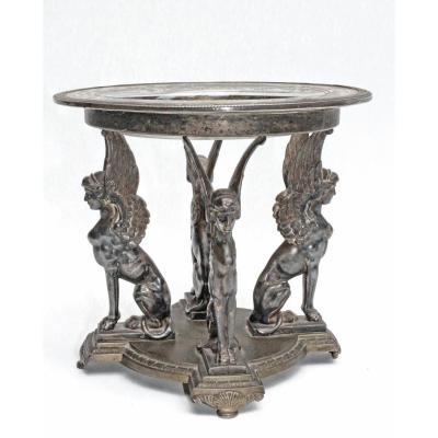 Empire Cup With Silver Bronze Sphinges