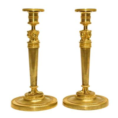 Pair Of Directoire-1st Empire Torches By Claude Galle (1759-1815)