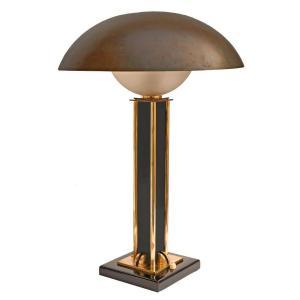Jacques Adnet (1900-1984) Large Art Deco Lamp