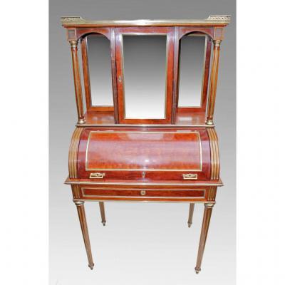 Cylinder Bureau Louis XVI Era Nineteenth