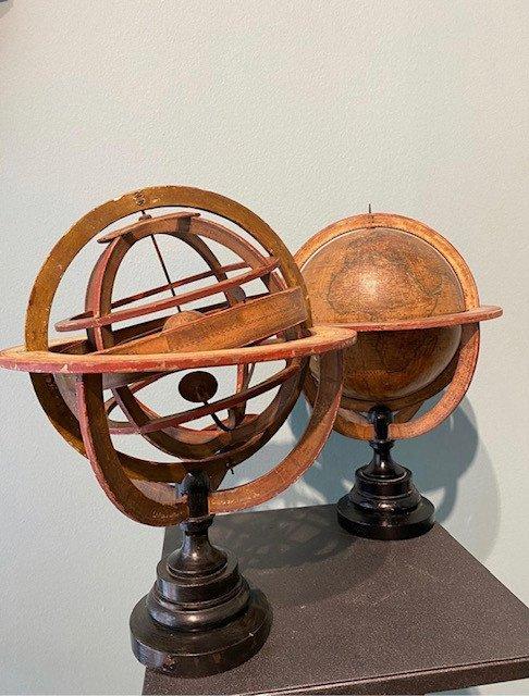 Globe And Armillary Sphere