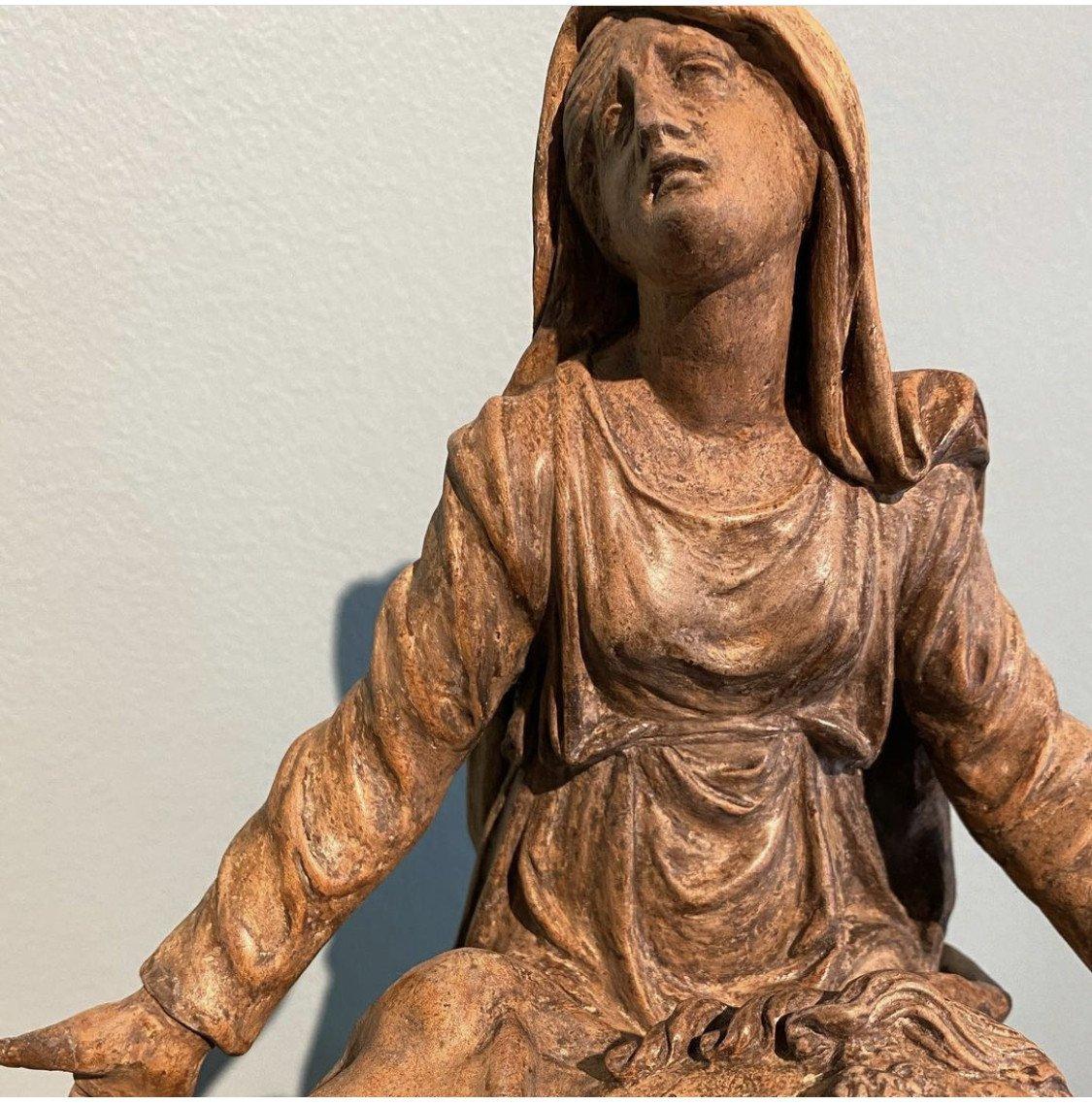 "Terre Cuore "" Le Christ Depose' Avec La Madeleine -photo-4"