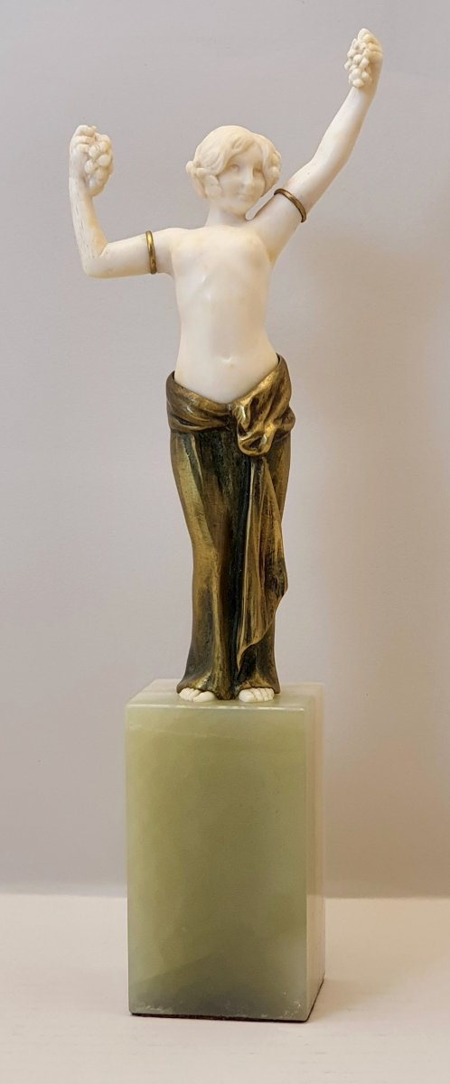 Barthelemy France Sculpture In Bronze And Ivory