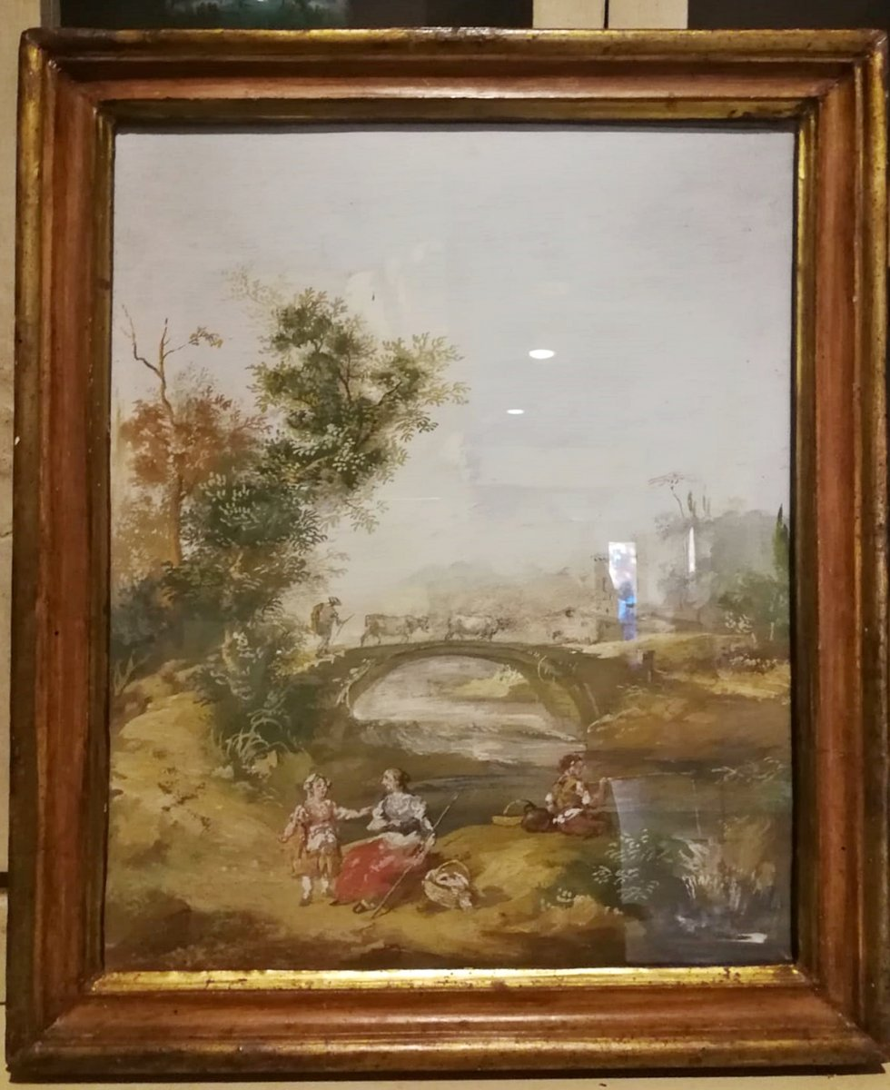 Landscape with a rural scene from the early 19th century
