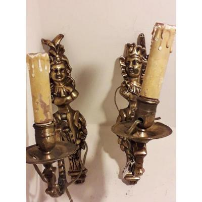 Pair Of Gilt Bronze Sconces Empire First
