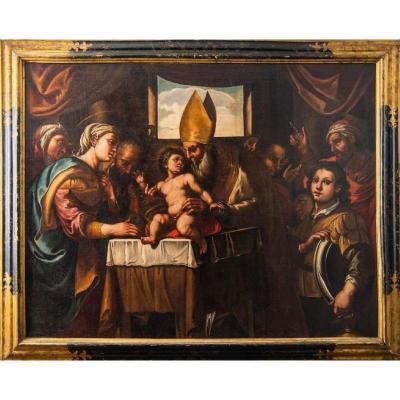 Circoncision De Jésus - 195 X 124 - Première Moitié Du 17e Siècle   Ferrau Fenzoni (1562-1645)