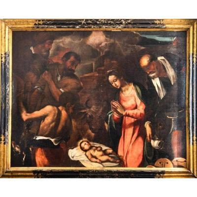 Nativité, Italie Central, Première Moitié Du XVIIe Siècle. (195 Cm X 124 Cm)