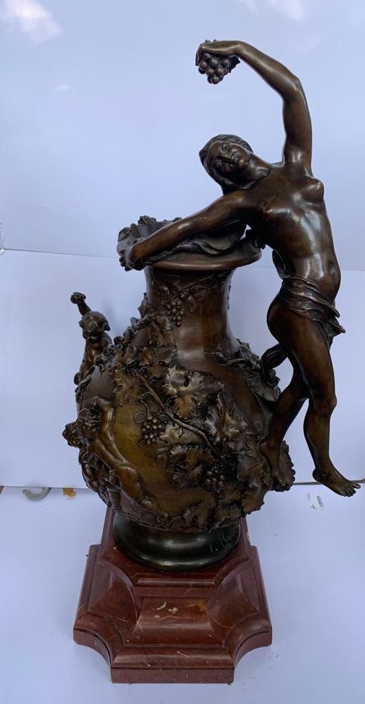 Bronze Vase, Signed F. Charpentier. France End XIXth Century
