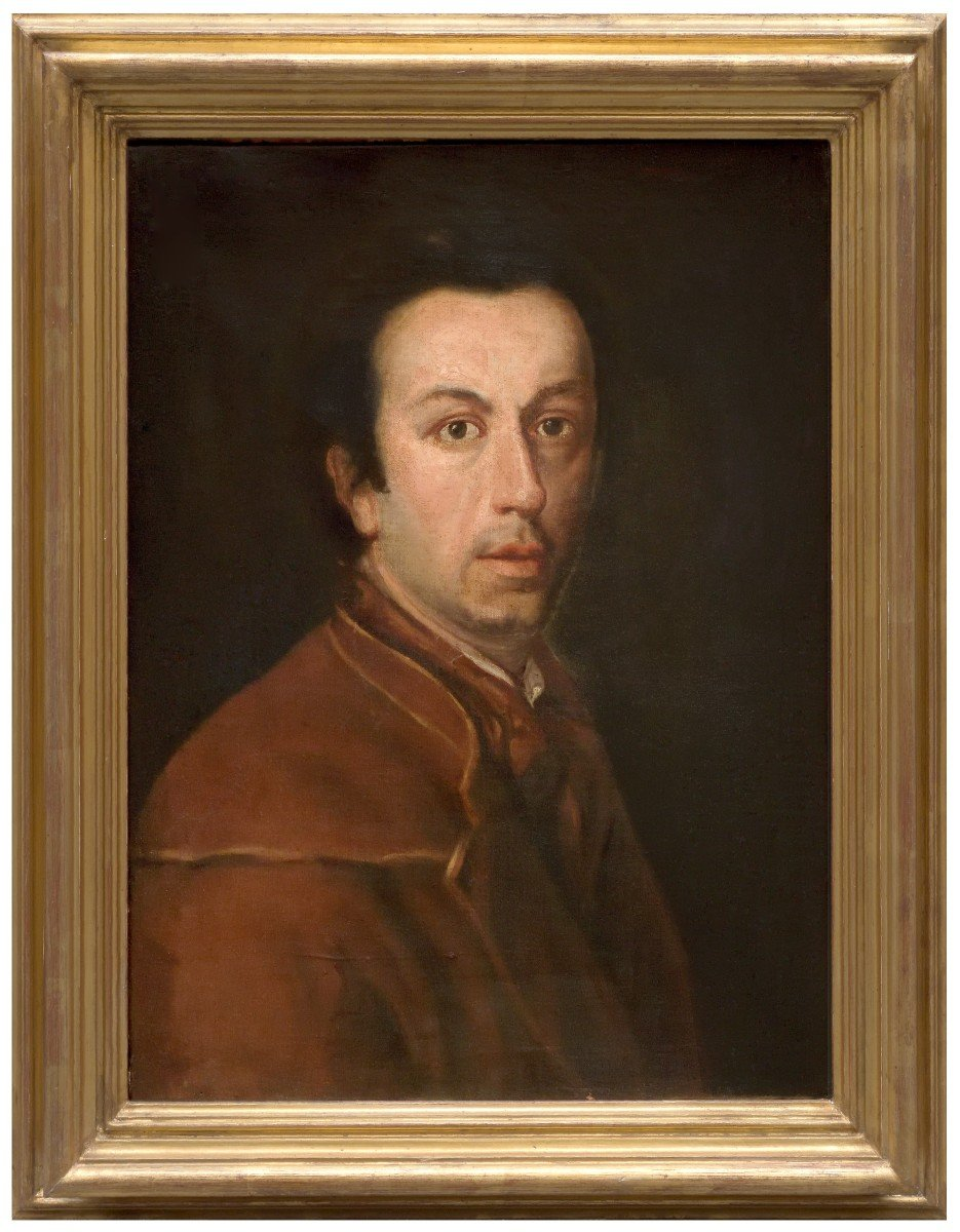 Portrait De Anton Raphael Mengs, Attribué à M. Knoller, Italie XVIIIéme Siécle