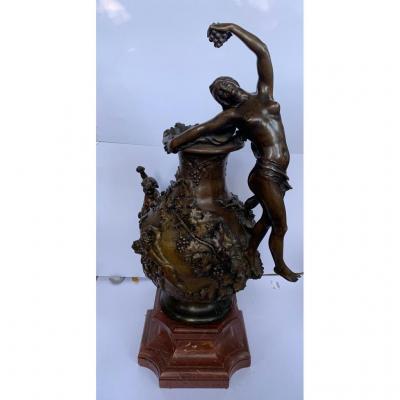 Vase En Bronze, Signé F. Charpentier. France Fin XIXéme Siècle