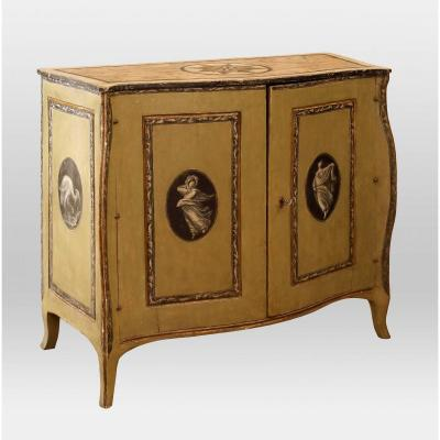 Neoclassical Lacquered Sideboard , Naples XVIIIth Century