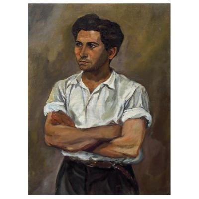 Portrait Of Young Man, Painting, Italy 1930