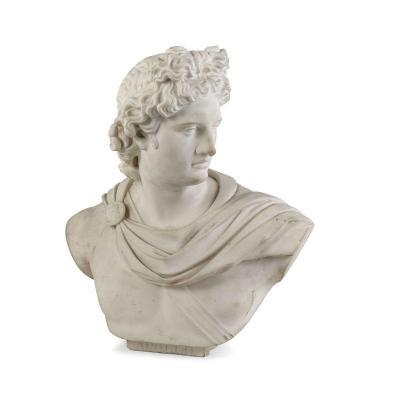 Bust Of Apollo Du Belvédère, Sculpture, Italy XIXth Century