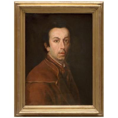 Portrait Of Anton Raphael Mengs, Attributed To M. Knoller, Italy XVIIIth Century